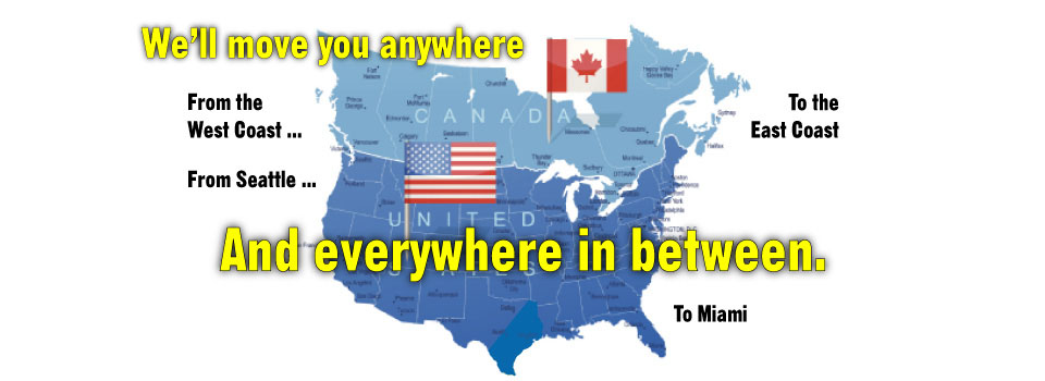 Long Distance Movers Within Canada or to USA